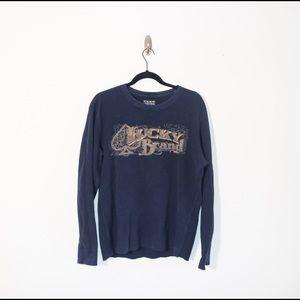 90s lucky brand waffle crew neck shirt